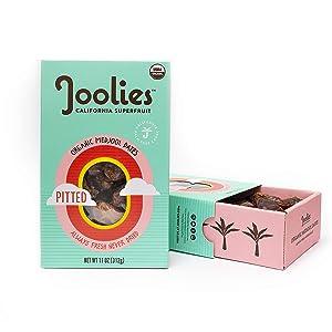 Joolies - Fresh Organic Medjool Dates, Pitted (11oz) - 2 Pack, California Grown, Vegan, Paleo, Raw, No Added Sugar, Good Source of Fiber, Antioxidants