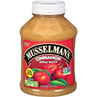 Musselman's Cinnamon Apple Sauce - low calorie, gluten free snack, low sodium, kosher, fat-free, no cholesterol, no high fructuse corn syrup, from 100% fresh American Grown Apples. (48oz x 8)