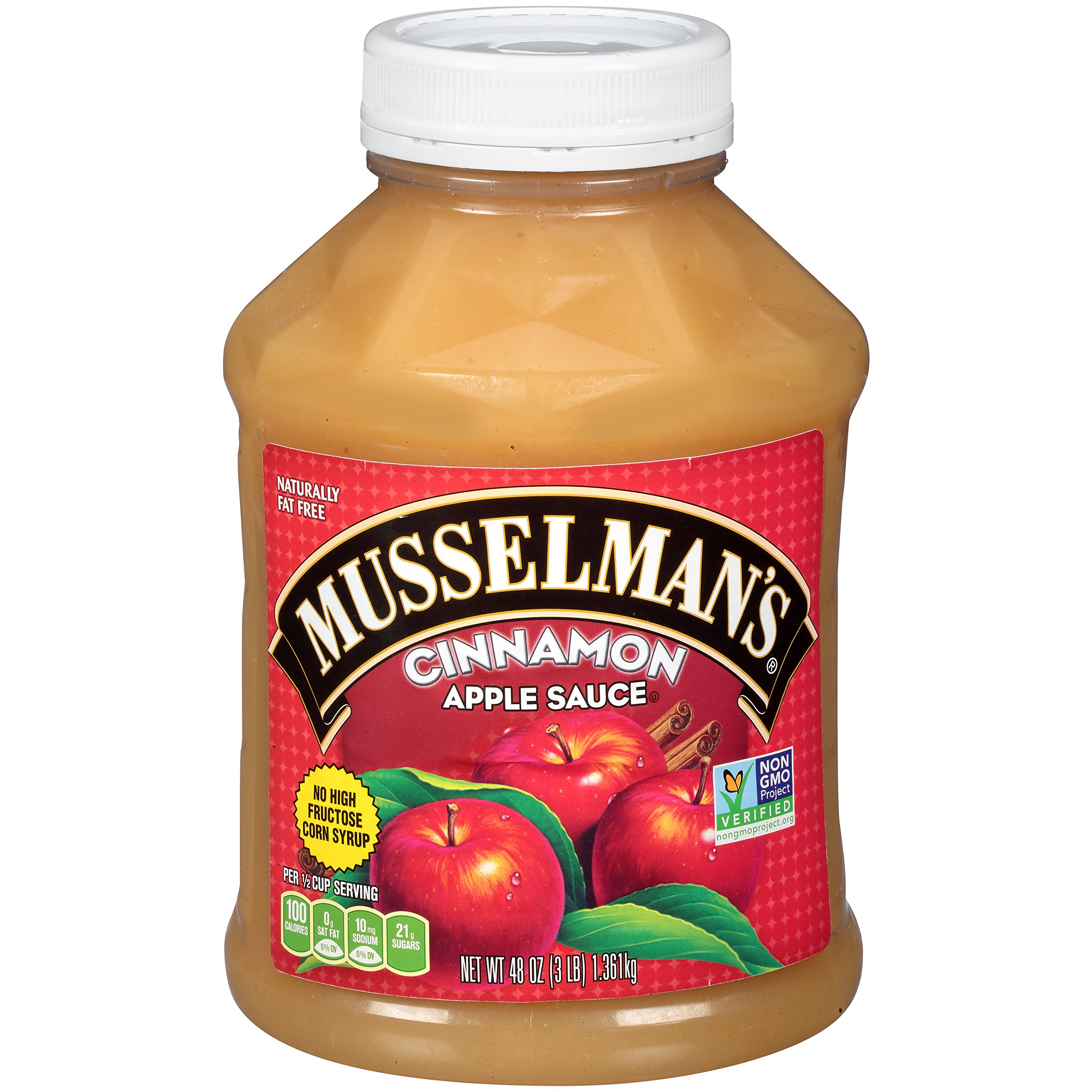 Musselman's Cinnamon Apple Sauce, 48 Ounce (Pack of 8)