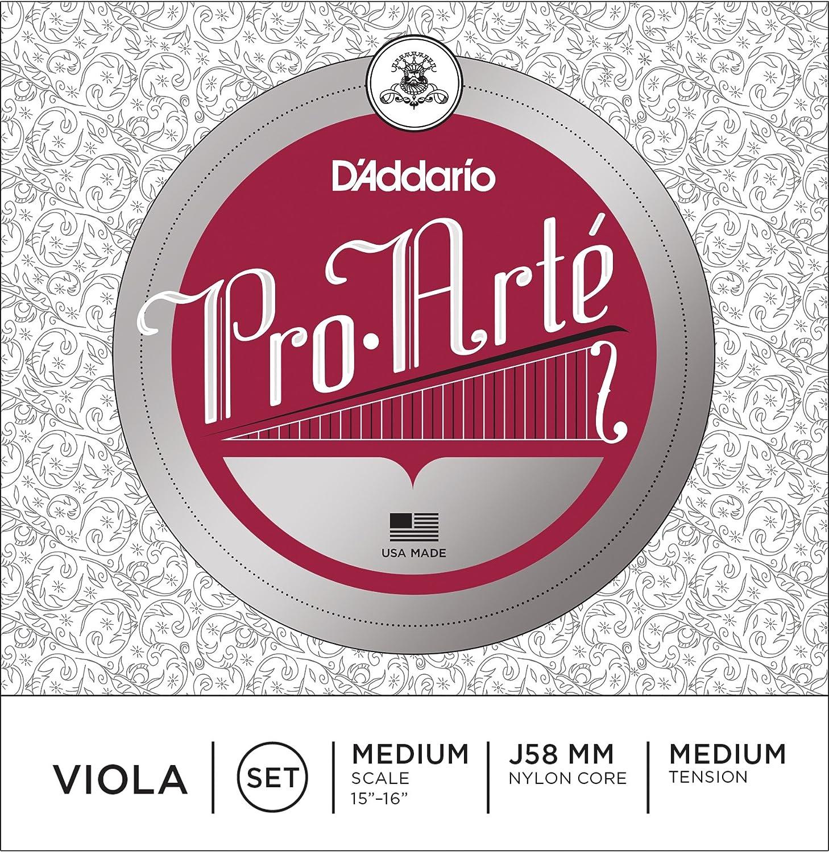 D'Addario Pro-Arte Viola String Set, Medium Scale, Medium Tension D'Addario &Co. Inc J58 MM