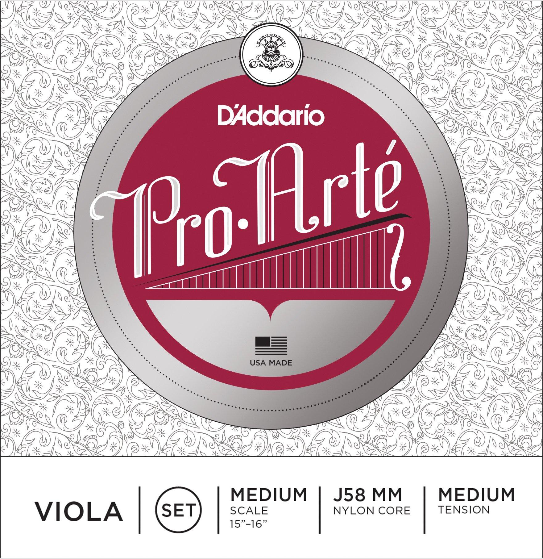 D'Addario Pro-Arte Viola String Set, Medium Scale, Medium Tension