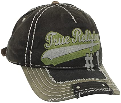 33c25e1b Amazon.com: True Religion Men's Script Baseball Cap, Black, One Size ...