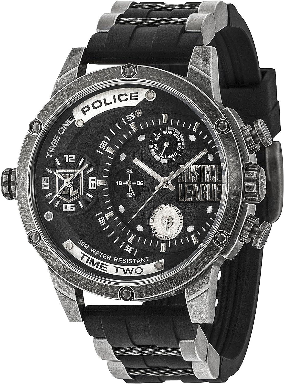 Police Reloj Multiesfera para Hombre de Cuarzo con Correa en Silicona 14536JQ02P