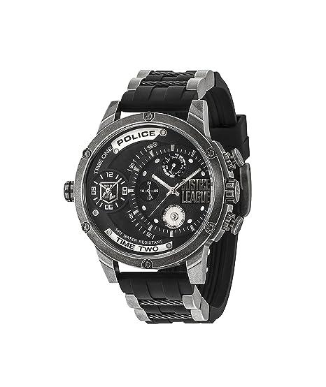 Police Reloj Multiesfera para Hombre de Cuarzo con Correa en Silicona 14536JQ02P: Amazon.es: Relojes