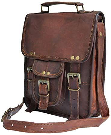 Amazon.com: Genuine distressed leather shoulder bag satchel for ...