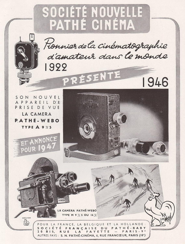 Amazon.com: 1946 Print Ad Pathe Cinema Cinematography Movie Camera ...