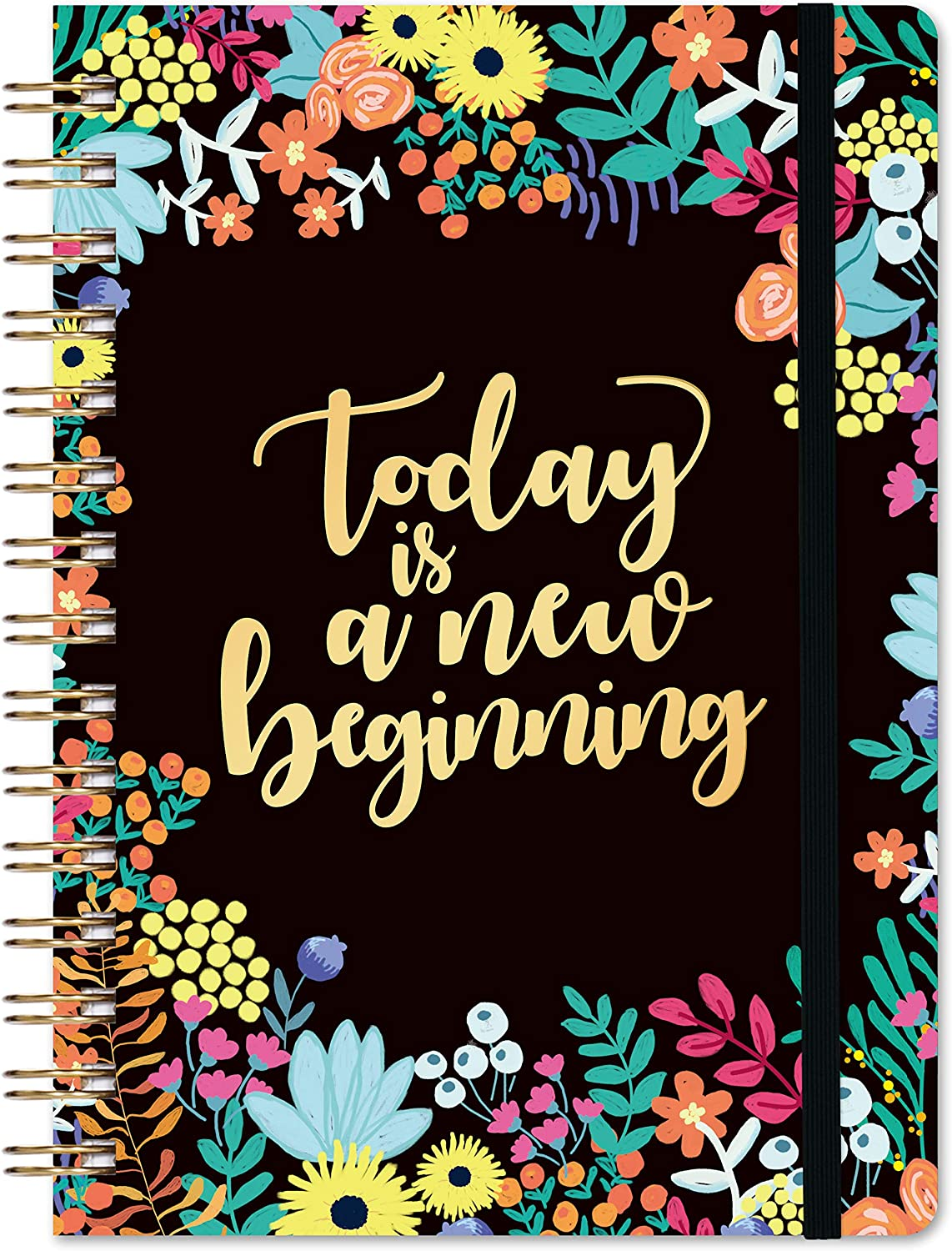 """Ruled Notebook/Journal - Lined Journal, 6.3"""" × 8.35"""", Spiral Journal, Hardcover, Back Pocket, Elastic Closure, Strong Twin-Wire Binding with Premium Paper, Spiral Notebook/Journal"""