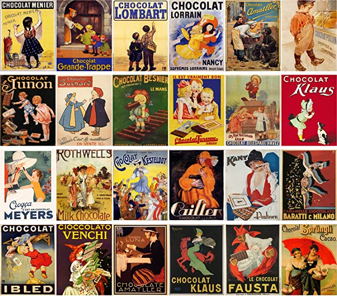 SCHOOL BOYS CHOCOLATE LOMBART THE BEST CHOCOLAT FRENCH VINTAGE POSTER REPRO