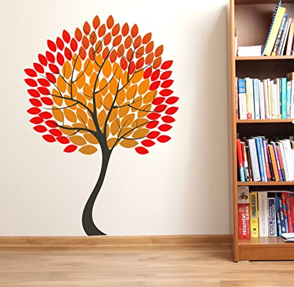 b035e317d5c Buy Stickie Tree Design Vinyl Wall Sticker (65   90cm) Online at Low Prices  in India - Amazon.in