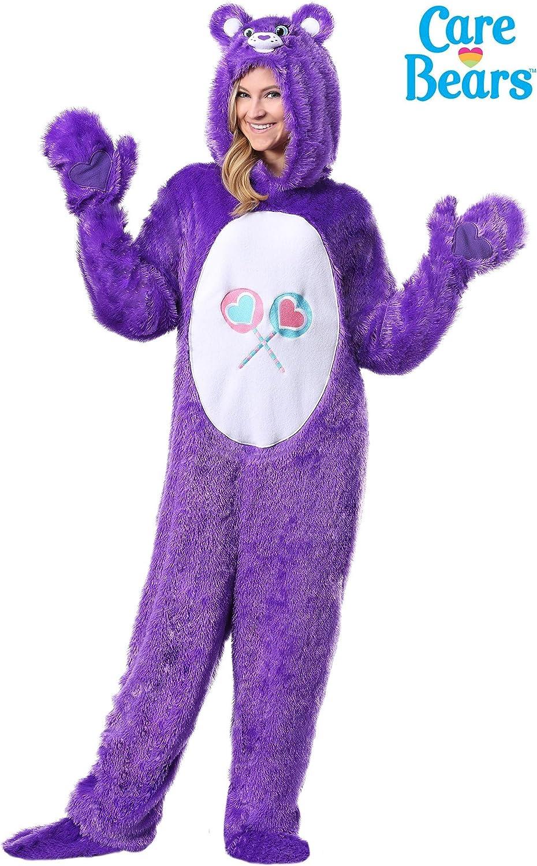 NEW Care Bears Women/'s Small Union Suit Share Bear One Piece Costume Pajamas