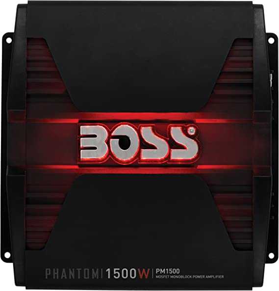 Class A//B 2//4 Ohm Stable BOSS Audio Systems PM1500 Monoblock Car Amplifier Great for Subwoofers Mosfet Power Supply 1500 Watts