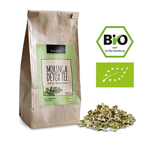 Aqayo Moringa Detox Tee 100 Bio Moringa Oleifera Getrocknete