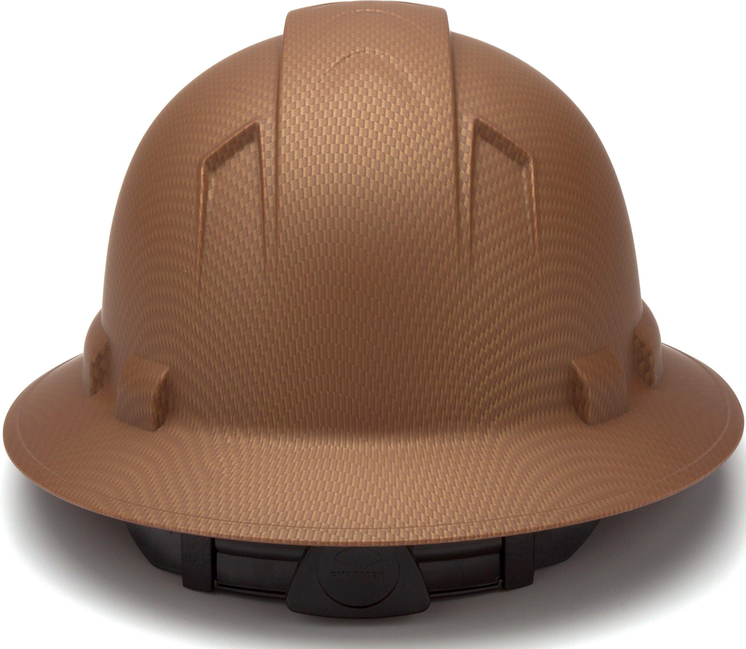 Pyramex Safety PYRAMEX - HP54118 - Copper - Full Brim Ridgeline Full Brim Graphite Pattern Hard Hat, Copper Graphite Pattern by Pyramex Safety (Image #4)