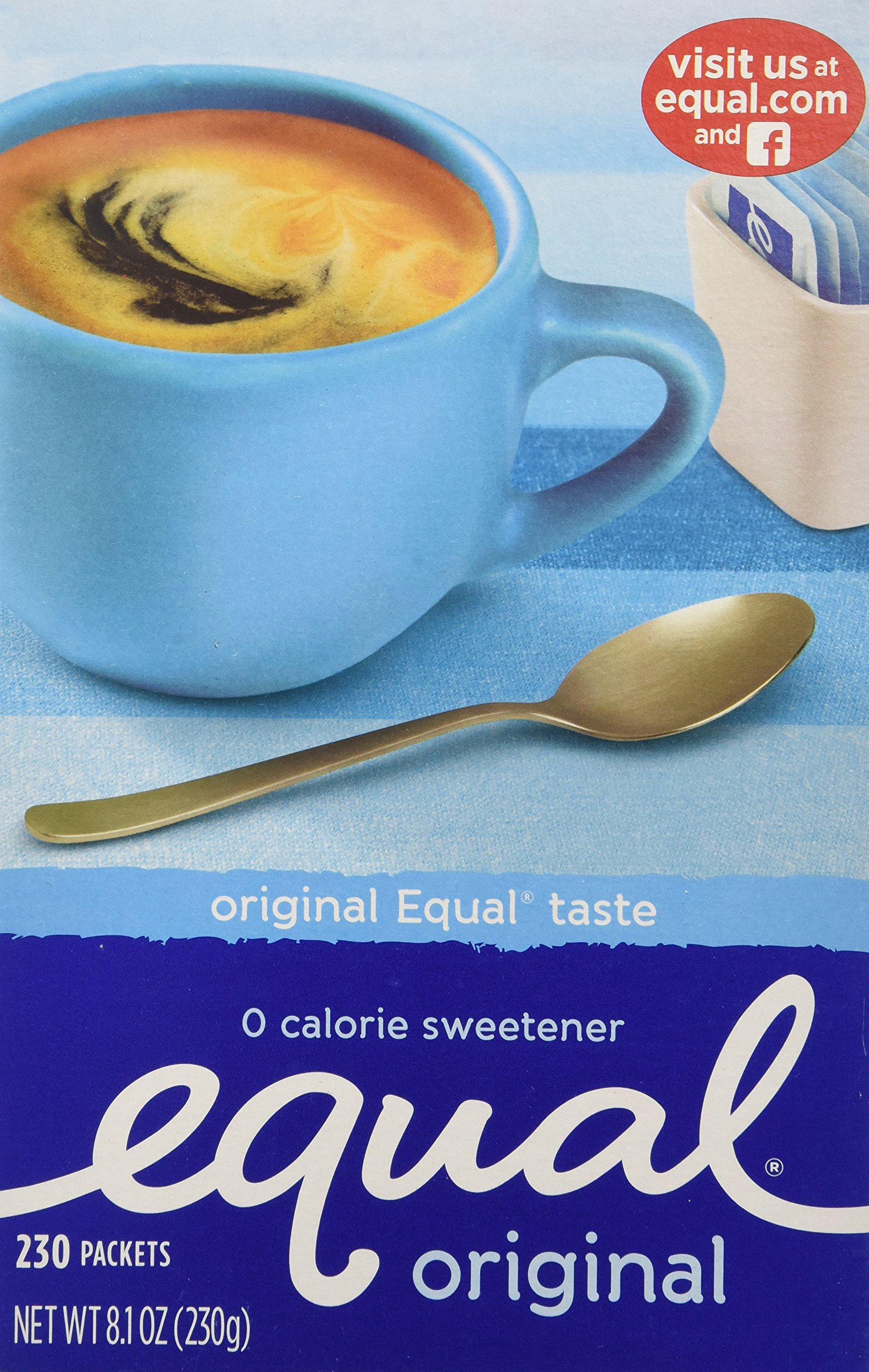 EQUAL 0 Calorie Sweetener, Sugar Substitute, Zero Calorie Sugar Alternative Sweetener Packets, Sugar Alternative, 230 Count (Pack of 3) by Equal (Image #2)