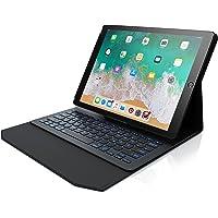 CSL - iPad Pro 12,9 Zoll Tastatur mit Hintergrundbeleutung | Schutzhülle/Tasche/Cover/Case | Lightweight Design | Multimedia Funktionstasten | QWERTZ-Layout | Rainbow Tastenbeleuchtung