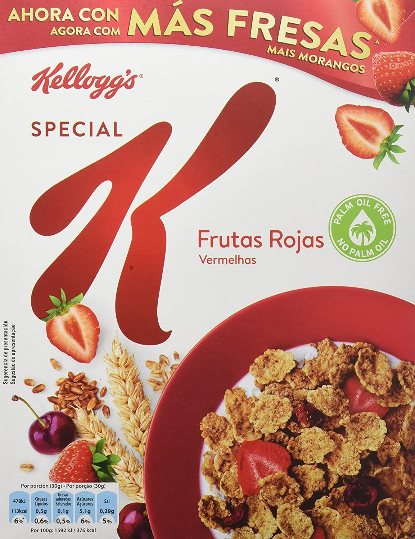 Special K - Frutas Rojas, Copos tostados de arroz, 300 g - [pack de 5]