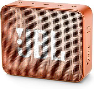 JBL GO 2 Portable Bluetooth Waterproof Speaker (Orange), 4.3 x 4.5 x 1.5 (JBLGO2COR)