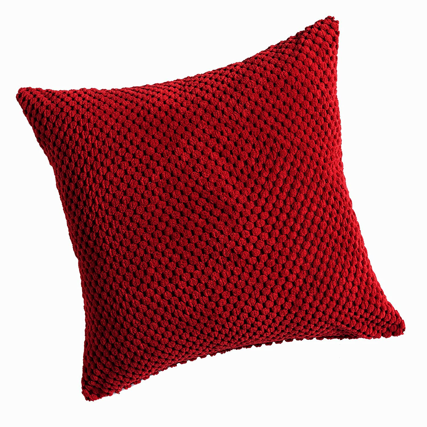 cover red pillow cotton plain group scatter cushion homescapes