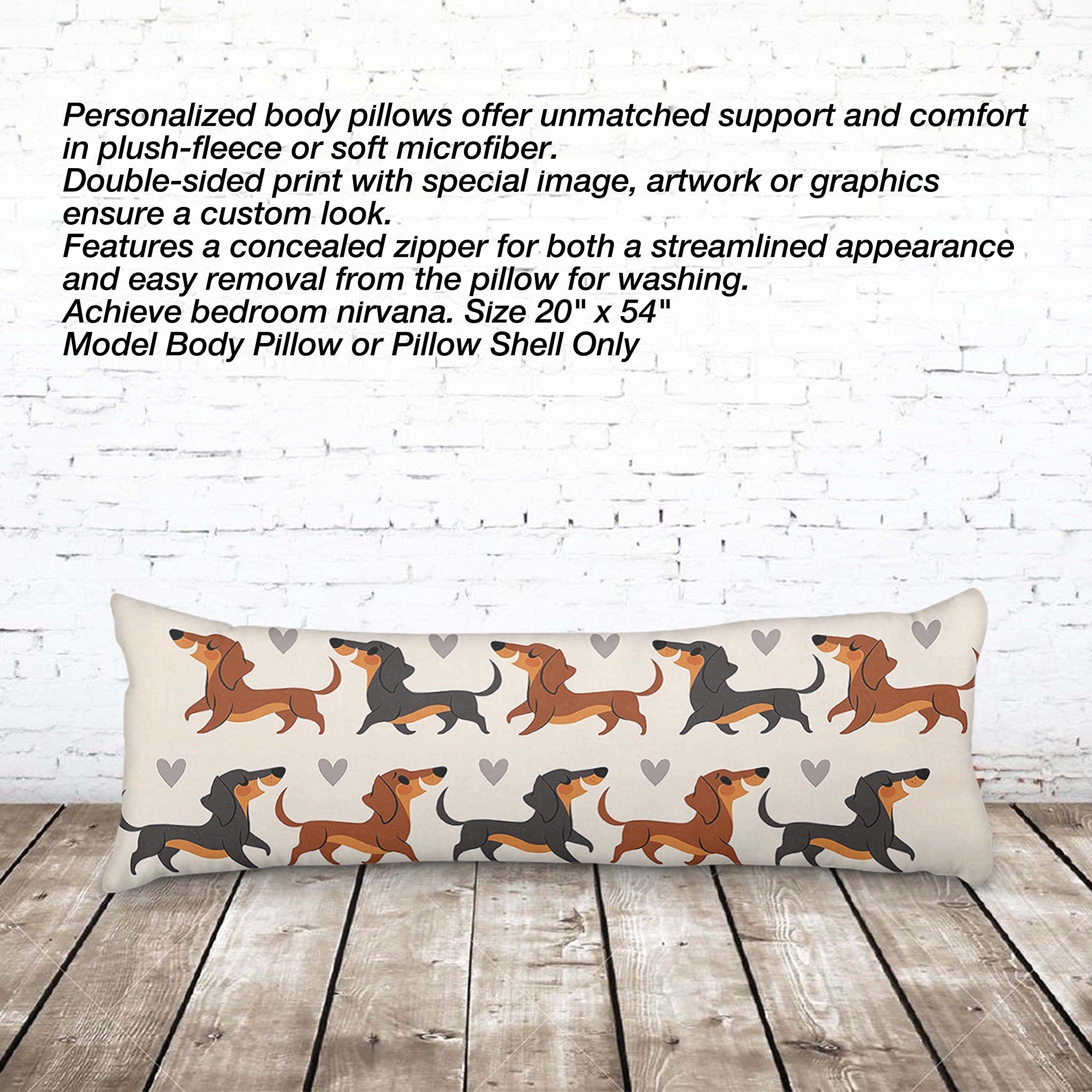 VOTANTA - Dachshund Cute Body Pillows (Body Pillow 100% Microfiber, 20x54'')