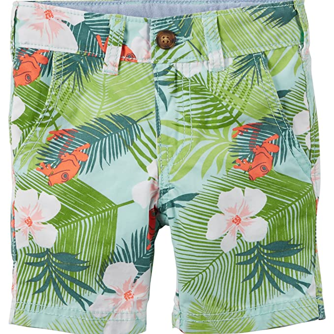 7f8d5cb54 Amazon.com  Carter s Baby Boy s Tropical Print Shorts (3 Months ...