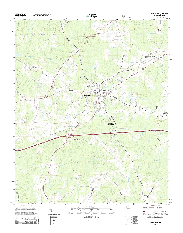 Greensboro Georgia Map.Amazon Com Topographic Map Poster Greensboro Ga Tnm Geopdf 7 5x7