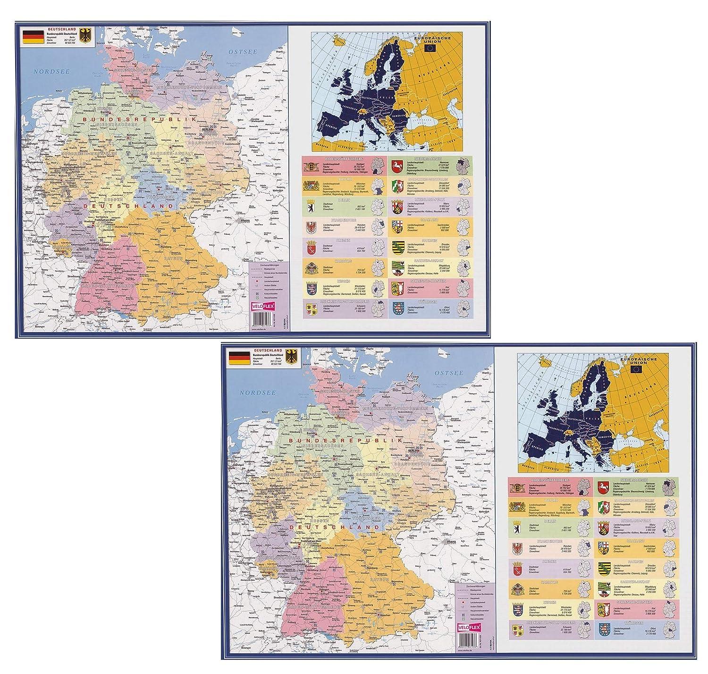2X Deutschland VELOFLEX Schreibunterlage 40 x 60 cm