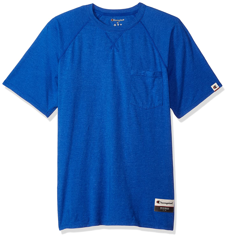 44c8b1e8 Champion Men's Authentic Originals Soft Wash Short Sleeve Pocket Tee at  Amazon Men's Clothing store: