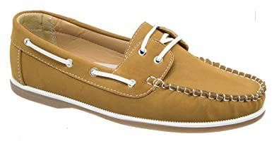 cb7a3ea966c49 Coolers Shoreside Womens Boat Deck Shoes/Tan Brown