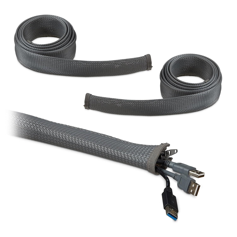 Relaxdays 6m Kabelschlauch, 3 x 2m 2m 2m Kabelkanal mit Reißverschluss, cleveres Kabelmanagement, Kabelschutzschlauch aus Nylon, Grau B07FF6RPTB | Online-Shop  5d1f3c