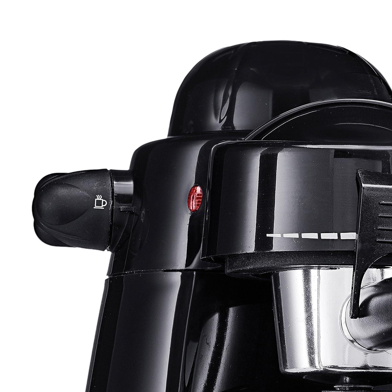 BELLA (13683) Personal Espresso Maker with Built-in Steam Wand, Glass Decanter, Permanent Filter & 5 Bar Pressure, Black 91SFRNpUZGL