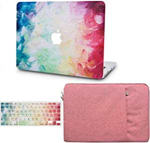 """KECC Laptop Case for MacBook Pro 13"""" (2020/2019/2018/2017/2016, with/Without Touch Bar) w/Keyboard Cover + Sleeve Plastic Hard Shell Case A2159/A1989/A1706/A1708 3 in 1 Bundle (Fantasy)"""