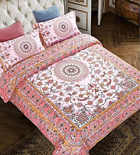 Bohemian Moroccan Duvet Cover Set Elegant Antique Design T300 Poly ...