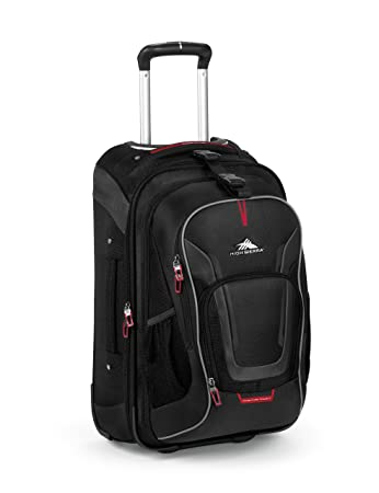 High Sierra AT7 Outdoor Rolling Backpack Black 22 Inch