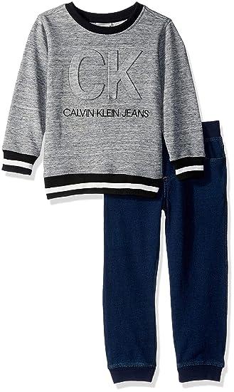 ee08e34f3941 Amazon.com  Calvin Klein Toddler Boys  2 Pieces Pull Over Pant Set ...