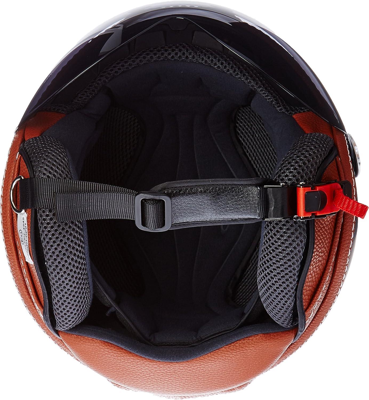 L ARMOR Helmets AV-84 Casco Demi Jet 59-60cm Verde//Vintage Deluxe Verde ECE Certificato