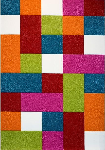 Mat/ériel Synth/étique NAZAR Tapis Daemon /à Carreaux Multi Multicolore 120 x 170 cm