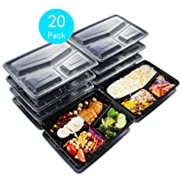 Deals on 20 Pack Sable SA-PS055 Meal Prep Containers