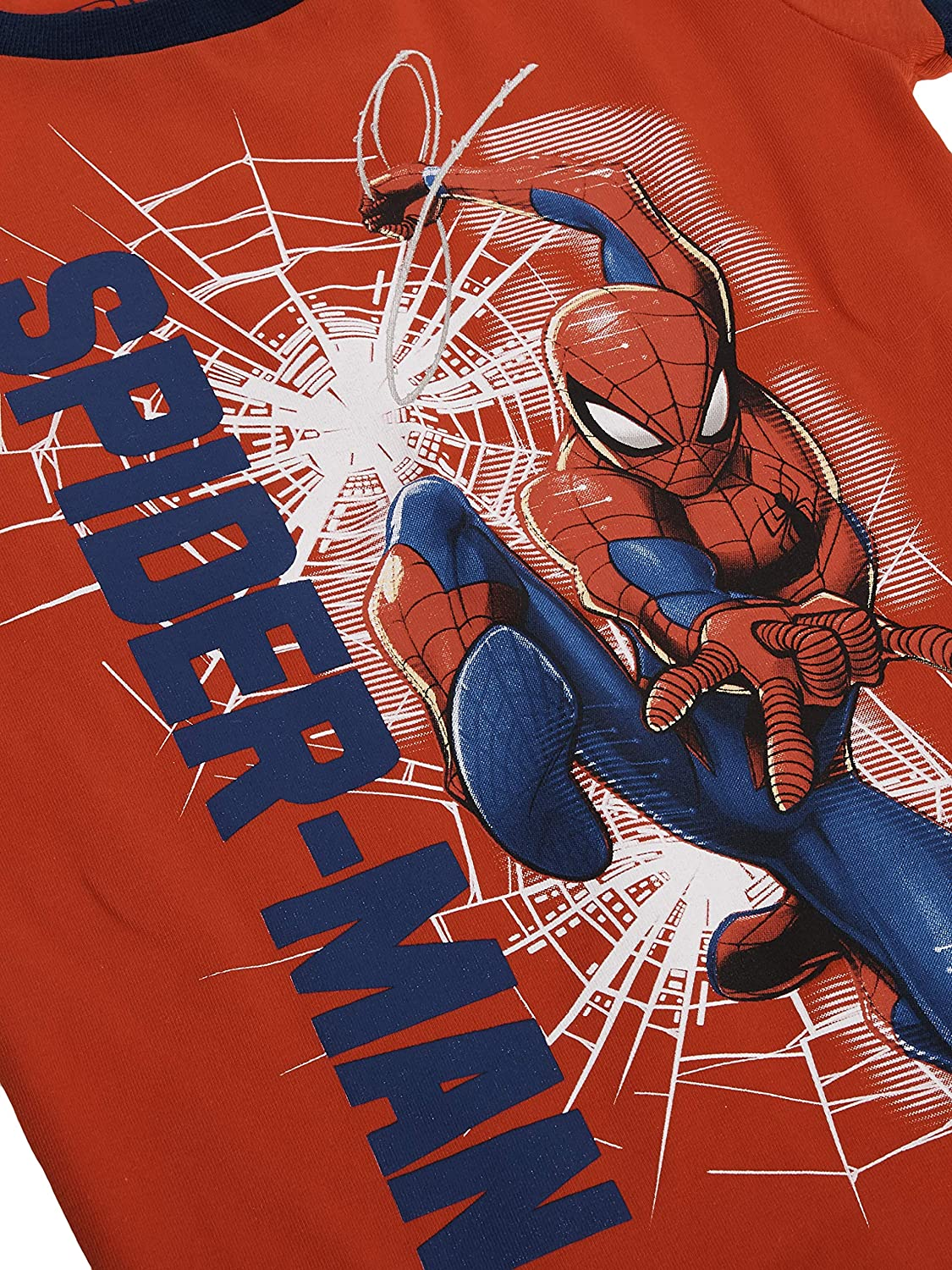 Red Boys Spider-Man Into The Spiderverse 2 Piece Pajama Set Small 6//7