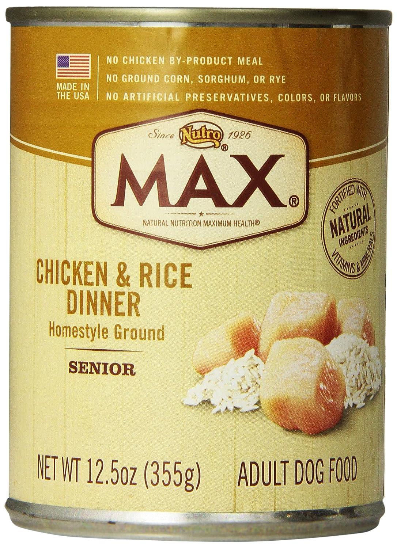 Nutro Max Senior Dog Food Ingredients