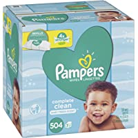 504-Count Pampers Baby Wipes Complete Clean Scented Refills