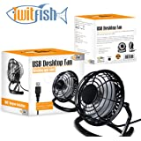 Twitfish USB Retro Fan - Black