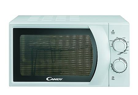 Candy CMG2071M - Microondas con grill con control analógico, 20 L, 700 W / 900 W, color silver