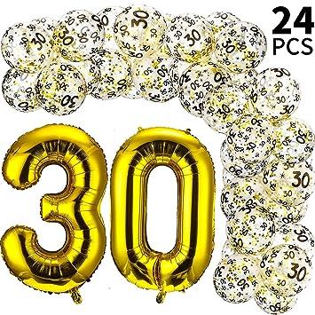 24 Piezas Globos de Cumpleaños de 42 Pulgadas y Globos ...