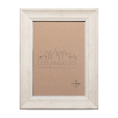 8x10 Picture Frame Barnwood Eggshell - Matted to 5x7, Frames by EcoHome