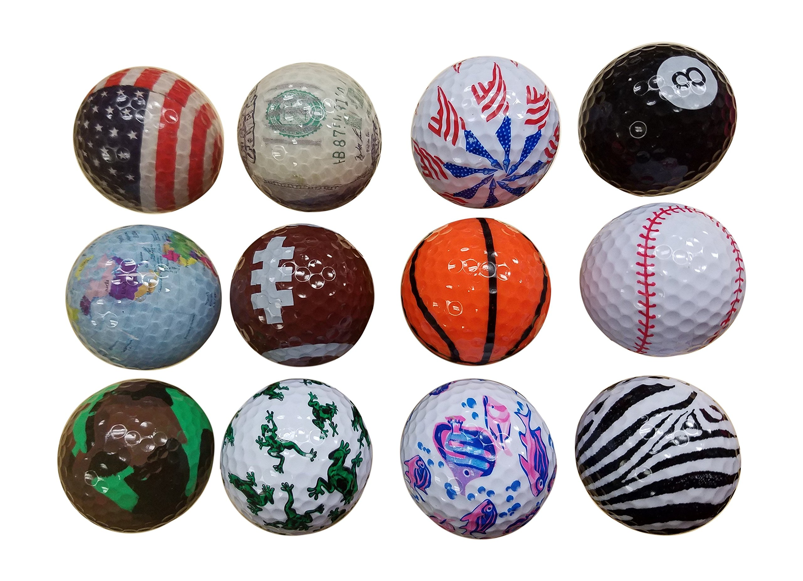 BZANY® Father's Day Gift Fun Crazy Golf Balls (1 Dozen)