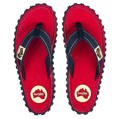 267669449ff4 Gumbies - Islander Canvas Flip-Flops - Unisex - Coast Red