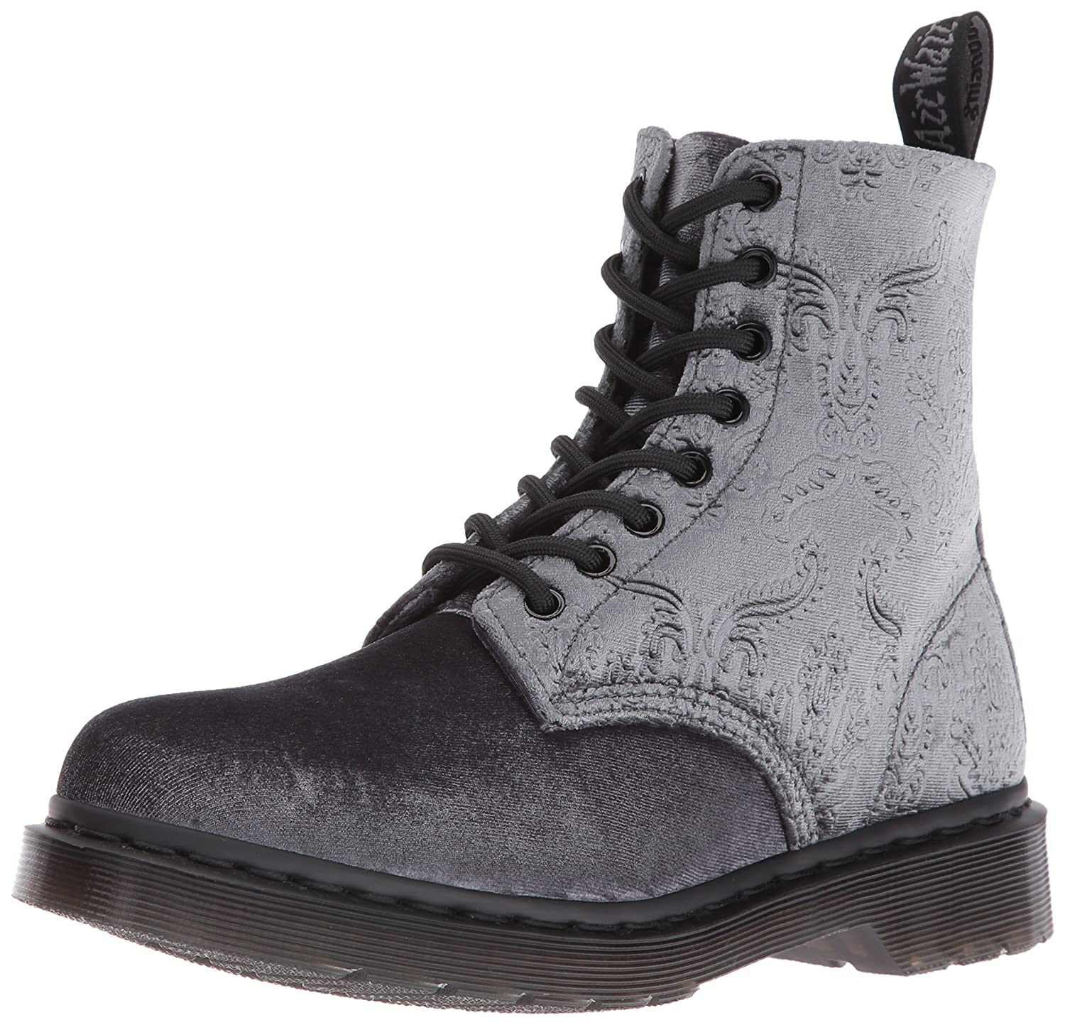 Dr. Martens Women's 1460 Brocade Combat Boot B01AMSQFUI 3 UK/5 M US|Grey
