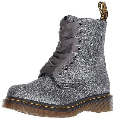 Dr. Martens Women s 1460 Pascal Glitter Mid Calf Boot Pewter 5 M UK (7 7e1292d918a9