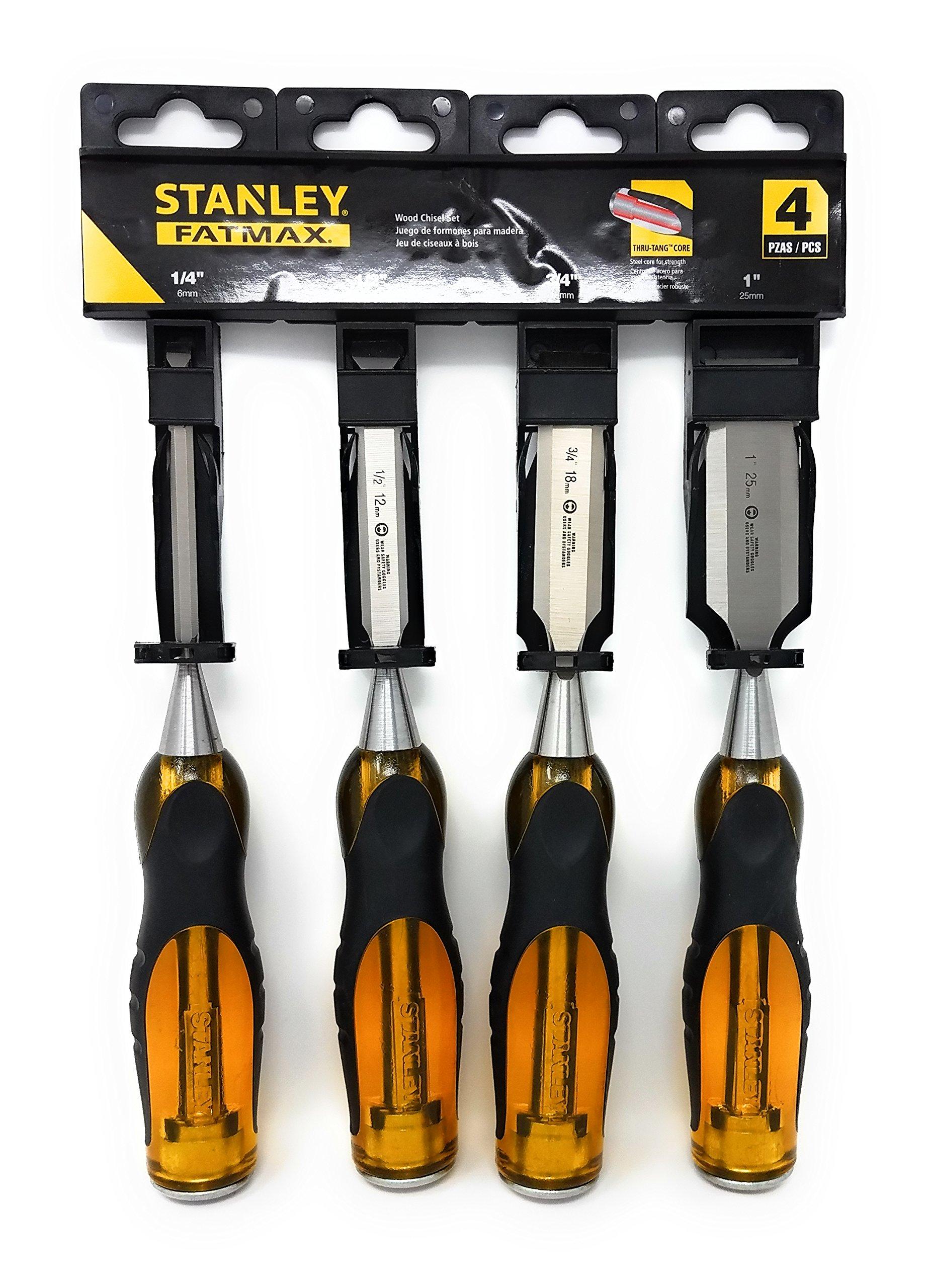 Stanley FATMAX 4 Piece Woodworking Chisels Set and Tesadorz Microfiber Towel Bundle by Stanley, Tesadorz