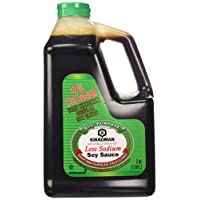 Kikkoman Lite Soy Sauce, 64-Ounce Bottle (Pack of 1)